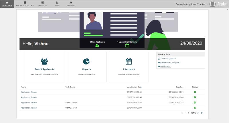 convedo Appian Applicant Tracker ATS