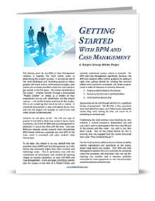 Getting started with BPM & Case Management