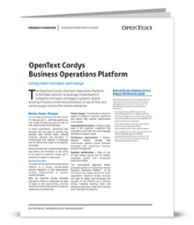 OpenText Process Suite brochure