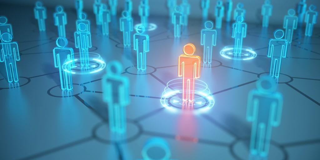 virtual human icons representing human resources